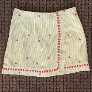 Lilly Pulitzer Lemon Strawberry Striped Skirt Sz 0